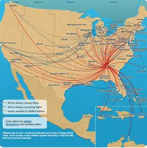 AirTran ATL Route Map