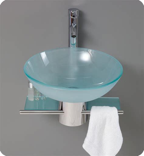 Glass Bathroom Vanity by Fresca Cristallino Modern Glass Bathroom Vanity W Frosted