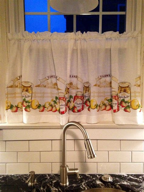 vintage kitchen cafe curtains excellent condition kitschy