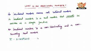 How To Define Irrational Numbers