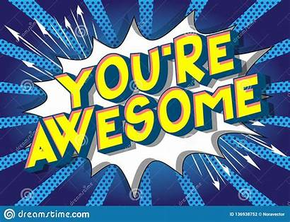 Awesome Re Comic Vector Words Clipart Phrase