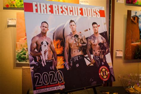 fire rescue dogs calendar debut party fire