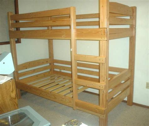 Bunk Bed by Simple Bunk Bed Plans Bed Plans Diy Blueprints