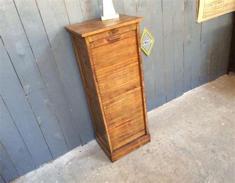 ancien classeur 224 rideau en bois