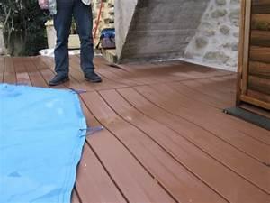 Pose Lame Terrasse Composite : wandgestaltung wohnzimmer pose terrasse bois terrasse ~ Premium-room.com Idées de Décoration