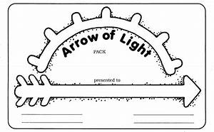 18 best images about arrow of light ceremonies cub With arrow of light certificate template