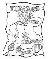 Coloring Pirate Pages Maps Treasure Map sketch template