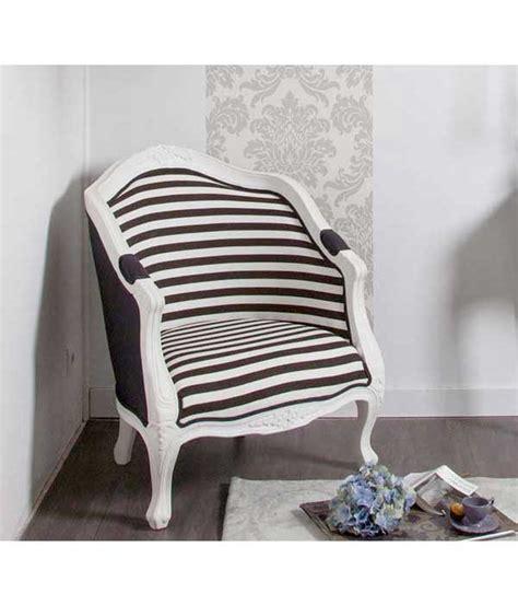 petit fauteuil cabriolet imprim 233 ray 233 noir et blanc