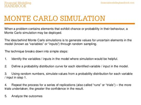 simulation de monte carlo capacity oriented analysis and design of production systems 1989