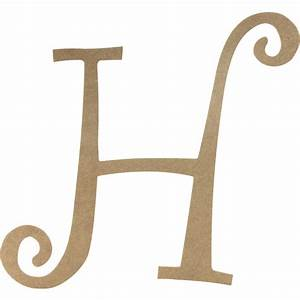 14quot decorative wooden curly letter h ab2152 With decorative letter h