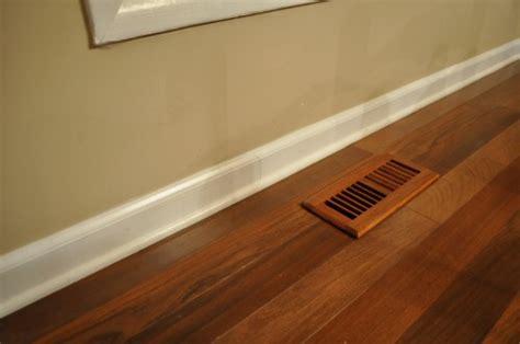 tile floor quarter round painting vs staining quarter shoe molding trim one project closer