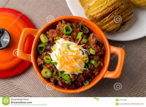 chili  carne top view stock image image  chilli