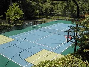 Multi-Purpose Tennis Court - Traditional - Landscape - DC ...