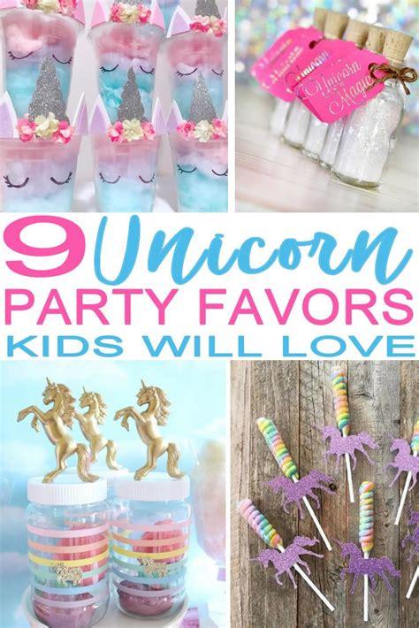 unicorn party favor ideas    party favor ideas