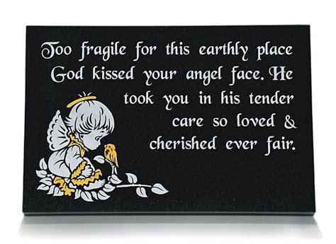 childs memorial plaque gravestones