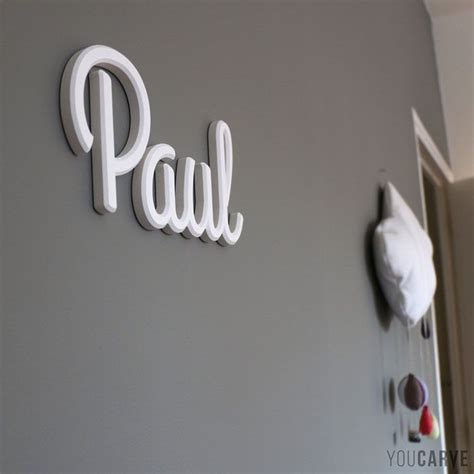 lettre prenom chambre prénom enfant sur mur de chambre lettres en pvc expansé