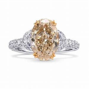 401cts champagne diamond engagement 3 stone ring set in With champagne wedding ring