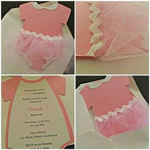 Baby Shower Invitation - Ballerinia Invitation -- Onesies ...