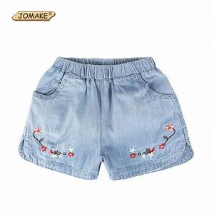 2107 Summer Toddler Girls Shorts Floral Embroidery ...