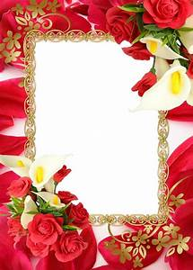 15 Red Frame PSD Picture Images - Red Flower Borders and ...