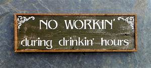 Wood signs bar sign western wall decor funny by crowbardsigns