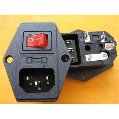 iec320 c14 power holder with fuse holder
