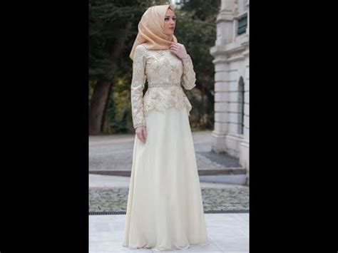 model baju gamis muslim brokat terbaru  youtube