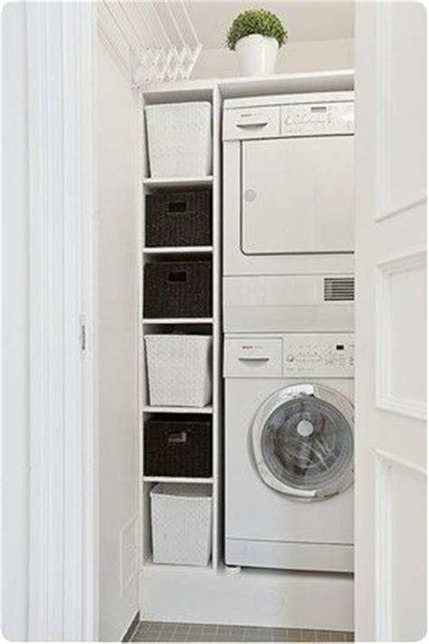lave linge dans cuisine aménagement buanderie 27 idées géniales à piquer