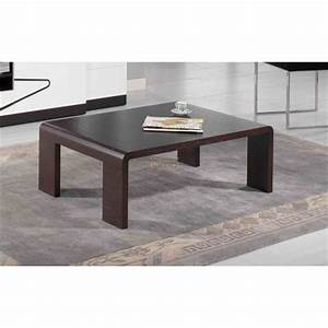Table Basse Contemporaine Wenge AQUIN Meubles ELMO