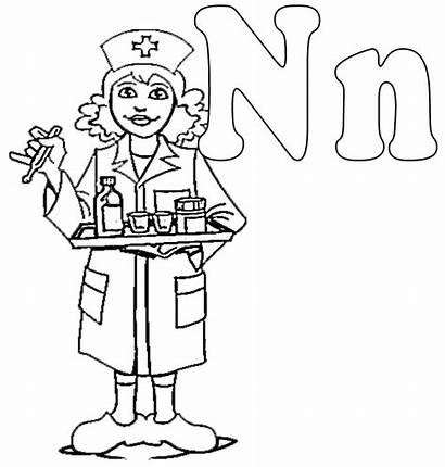 Coloring Nurse Pages Colouring Night Nurses Clipart