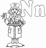 Nurse Coloring Pages Male Clip Drawing Colouring Nurses Night Printable Clipart College Shift National Cliparts Preschool Workers Activity Nursing Letter sketch template