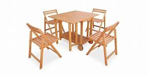 stunning salon de jardin avec table pliante contemporary With table ronde avec chaises