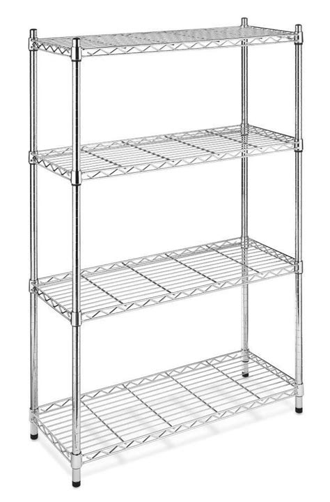 chrome storage rack  tier organizer kitchen shelving