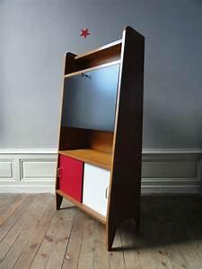 Bureau Secretaire Vintage : meuble secretaire annees 50 vintage moi ~ Teatrodelosmanantiales.com Idées de Décoration