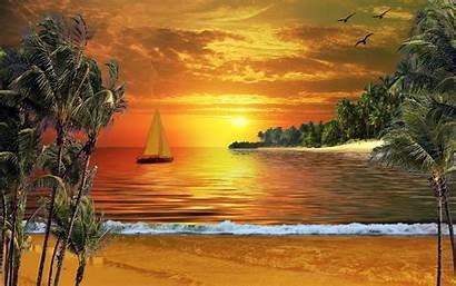 Spring Screensaver Beaches Wallpapers Sunset Trending Wallpapersafari