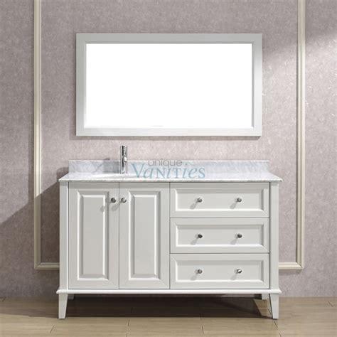 54 inch bathroom vanity single sink shop bathroom vanities 49 to 60 inches wide with free