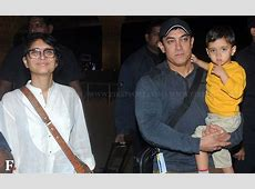 Spotted Aamir, Kiran Rao with son Azad leaving for Japan