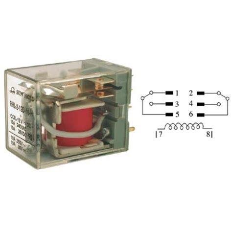 relevador de poder de 2 polos 2 tiros dpdt y bobina de 12 vcc