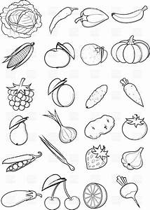 Vegetable Black And White Clipart | www.imgkid.com - The ...