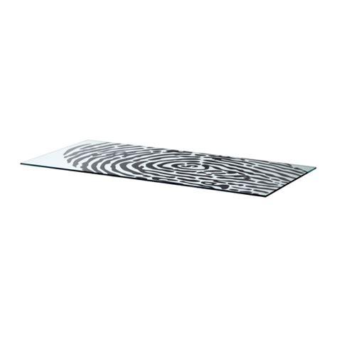bureau plateau verre ikea glasholm piano tavolo vetro impronta digitale ikea