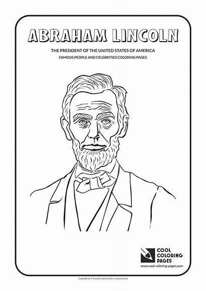 Coloring Lincoln Abraham Pages Cool Famous Celebrities