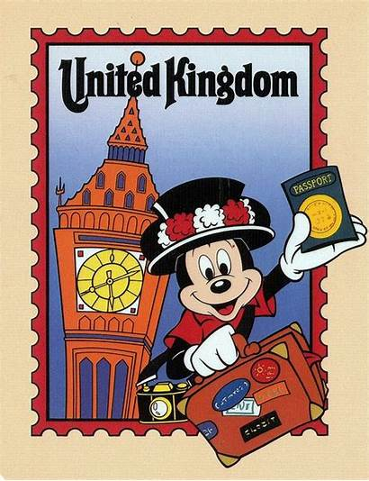 Disney Mickey Epcot Kingdom Postcard United Mouse