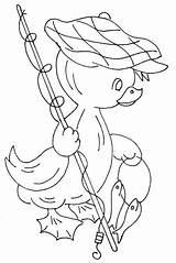 Coloring Ricamare Canna Pulcino Pesca Disegno Jamboree Juvenile Duck Embroidery Disegni Bambini Ducks Sew Patterns Tela Tulamama Apuntocroce Applique Magiedifilo sketch template