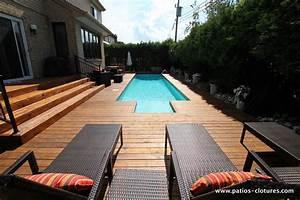 patio autour d39une piscine creusee riachy a ddo montreal With terrasse autour d une piscine