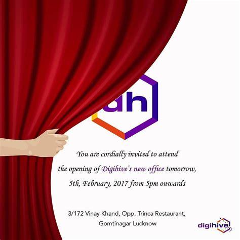 office inauguration invitation designed   ceo