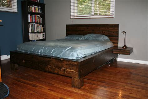 plans king size floating platform bed plans