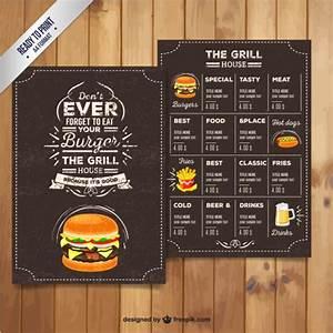Grill restaurant menu in retro style Vector Premium Download