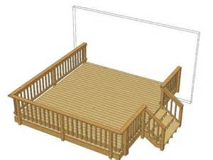 14 x 16 deck w wide stairs at menards home pinterest