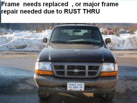 how to fix cars 2000 ford ranger auto manual find used 2000 ranger 4x4 needs frame repair or replacement due to rust thru in fenelton