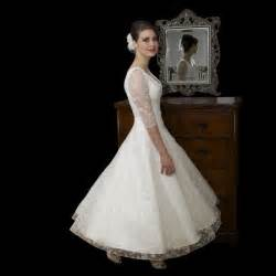 chic wedding dresses timeless chic tea length lace wedding dress